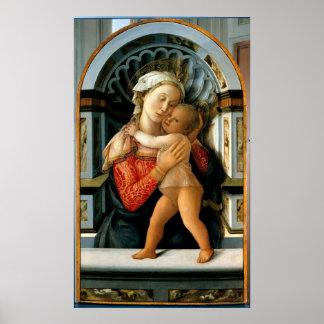 Madonna con el niño posters