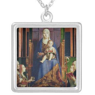 Madonna con el santo Nicholas de Bari Pendientes Personalizados