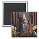 Madonna con el santo Nicholas de Bari Iman Para Frigorífico