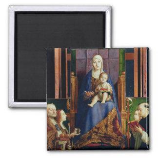 Madonna con el santo Nicholas de Bari Imán Cuadrado