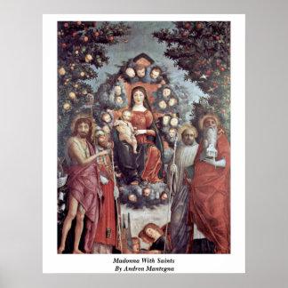 Madonna con los santos de Andrea Mantegna Impresiones