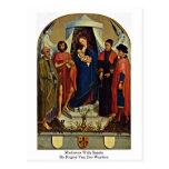 Madonna con los santos de Rogier van der Weyden Postales