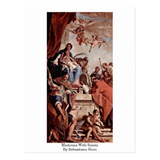 Madonna con los santos de Sebastiano Ricci Tarjeta Postal