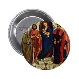 Madonna con los santos Peter, San Juan Bautista, Pin