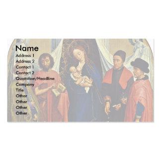 Madonna con los santos Peter, San Juan Bautista, Tarjetas De Visita