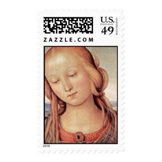 Madonna con St. John el Bautista por Perugino Sellos