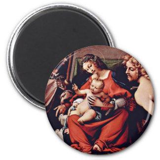 Madonna con St. Roch y St. Sebastian por la loteri Imán Para Frigorífico