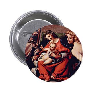 Madonna con St. Roch y St. Sebastian por la loteri Pin