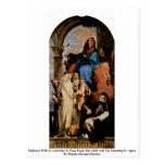 Madonna con St. Rosa del St. Catherine Postal
