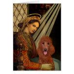 Madonna - Dark Red Standard Poodle #1 Card