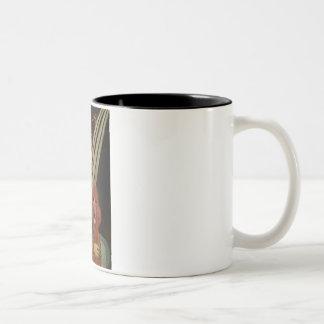 Madonna - Dark Red Standard Poodle #1 Two-Tone Coffee Mug