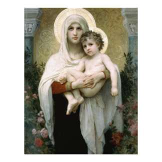 Madonna de Bouguereau de los rosas (1903) Tarjetones