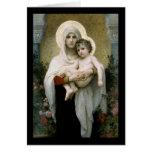Madonna de Bouguereau de los rosas (1903) Tarjeta De Felicitación
