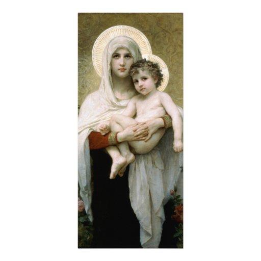 Madonna de Bouguereau de los rosas (1903) Lonas