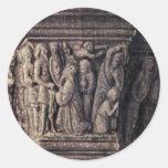 Madonna de Canon George Van Der Paele By Eyck Pegatinas Redondas