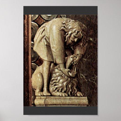 Madonna de Canon George Van Der Paele Detail por E Impresiones