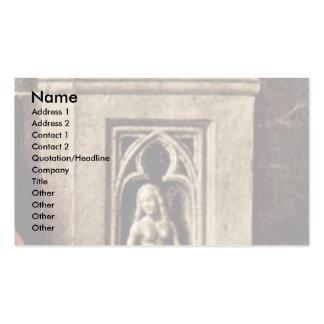 Madonna de Canon George Van Der Paele Details: Eva Tarjetas De Visita