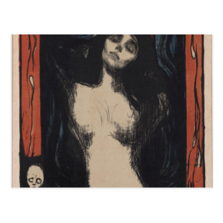 Madonna de Edvard Munch, pintor del symbolist Postal