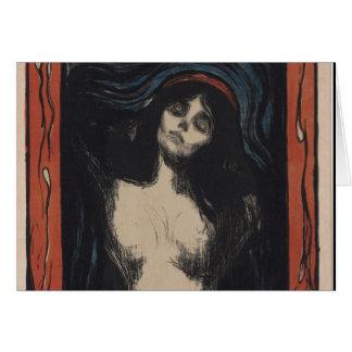 Madonna de Edvard Munch, pintor del symbolist Tarjeta De Felicitación