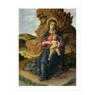 Madonna de la cueva, 1488-90 (tempera en el panel) postales