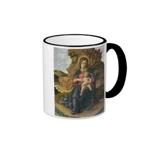 Madonna de la cueva, 1488-90 (tempera en el panel) tazas de café