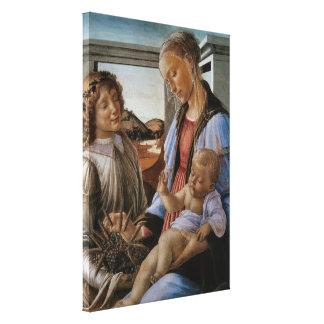 Madonna de la eucaristía por Botticelli Lienzo Envuelto Para Galerias