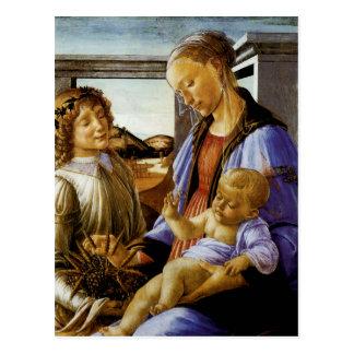 Madonna de la eucaristía tarjeta postal