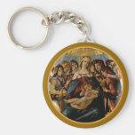 Madonna de la granada - Botticelli Llaveros Personalizados