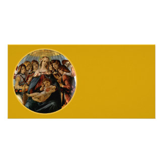 Madonna de la granada - Botticelli Tarjeta Con Foto Personalizada