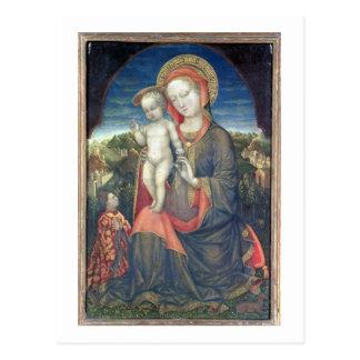 Madonna de la humildad adorado por Leonello d'Este Tarjeta Postal