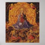 Madonna de la humildad con el niño y los ángeles d poster