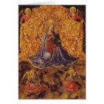 Madonna de la humildad con el niño y los ángeles d tarjeta de felicitación