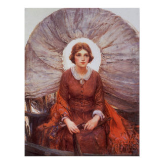 Madonna de la pradera por WHD Koerner, arte del Póster