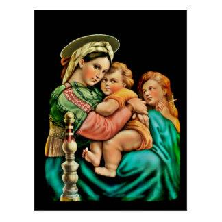 Madonna de la silla postal