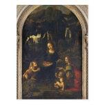Madonna de las rocas, c.1478 postal