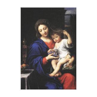 Madonna de las uvas, Pedro Mignard Lienzo Envuelto Para Galerias