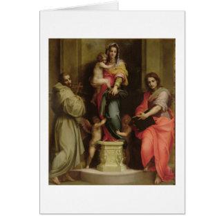 Madonna de los Harpies, 1517 (aceite en el panel) Tarjeta De Felicitación