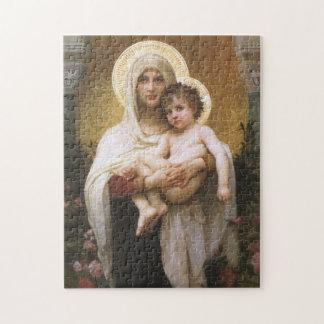 Madonna de los rosas, Bouguereau, realismo del Puzzle