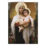 Madonna de los rosas, Bouguereau, realismo del Tarjeta De Felicitación