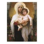 Madonna de los rosas, Bouguereau, realismo del Postales