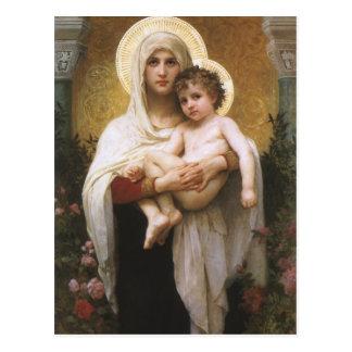 Madonna de los rosas Bouguereau realismo del Postales