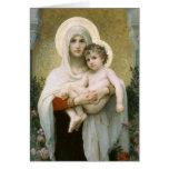 Madonna de los rosas por Bouguereau Tarjeta De Felicitación