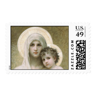 Madonna de los rosas timbre postal