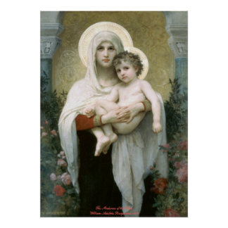 Madonna de los rosas - William-Adolphe Bouguereau Posters