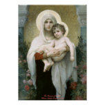 Madonna de los rosas - William-Adolphe Bouguereau Póster