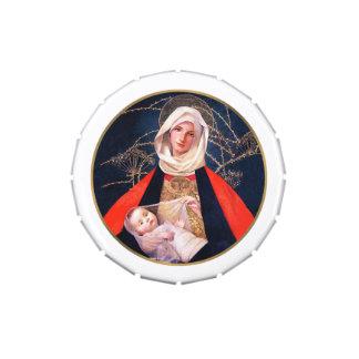 Madonna de Marianne alimenta las latas de la broch Frascos De Caramelos