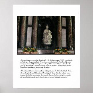 Madonna de Miguel Ángel y poster del niño