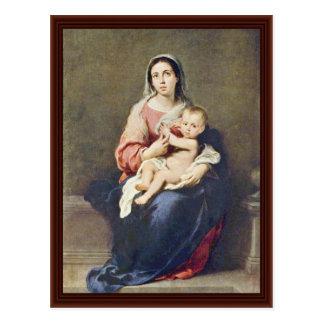 Madonna de Murillo Bartolomé Esteban Pérez Postal