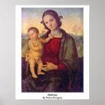 Madonna de Pedro Perugino Impresiones