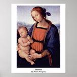 Madonna de Pedro Perugino Poster